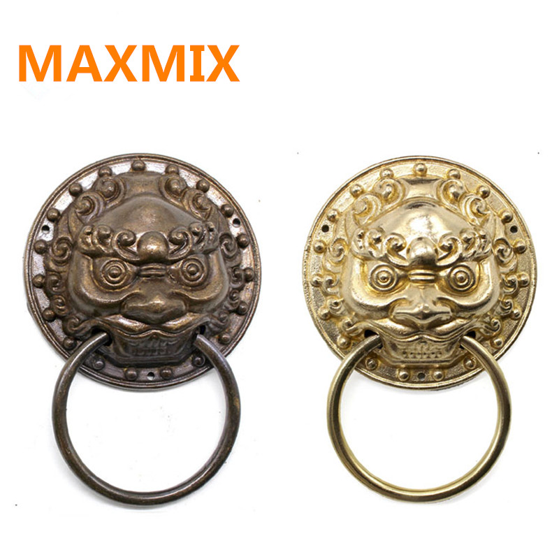 Aliexpress.com : Buy 95mm Chinese antique door ring handle Beast Lion Tiger  head Door handle Wooden door handle handle copper pull ring from Reliable  pull ... - Aliexpress.com : Buy 95mm Chinese Antique Door Ring Handle Beast