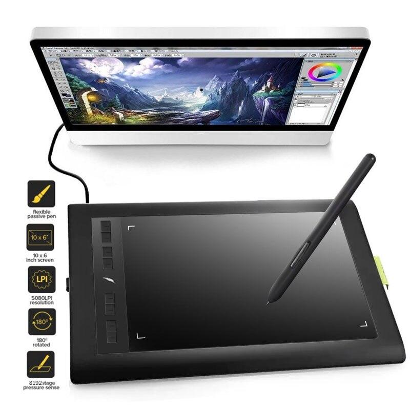 Acepen AP1060 10x6 pouces tablette graphique intelligente tablette numérique 5080LPI avec 2048 stylo de dessin numérique de niveau pour la conception de bureau - 2