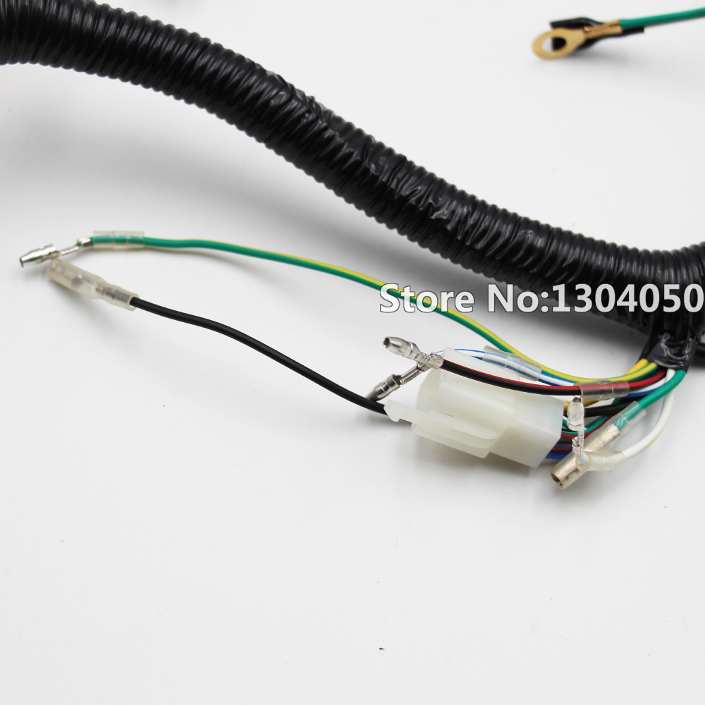 Full Electrics Wiring Harness Loom Solenoid Coil Cdi Spark Plug For China Made Atv Suitable Automatic Semi Auto 200 300cc Chinese Quad Bikes Buggy