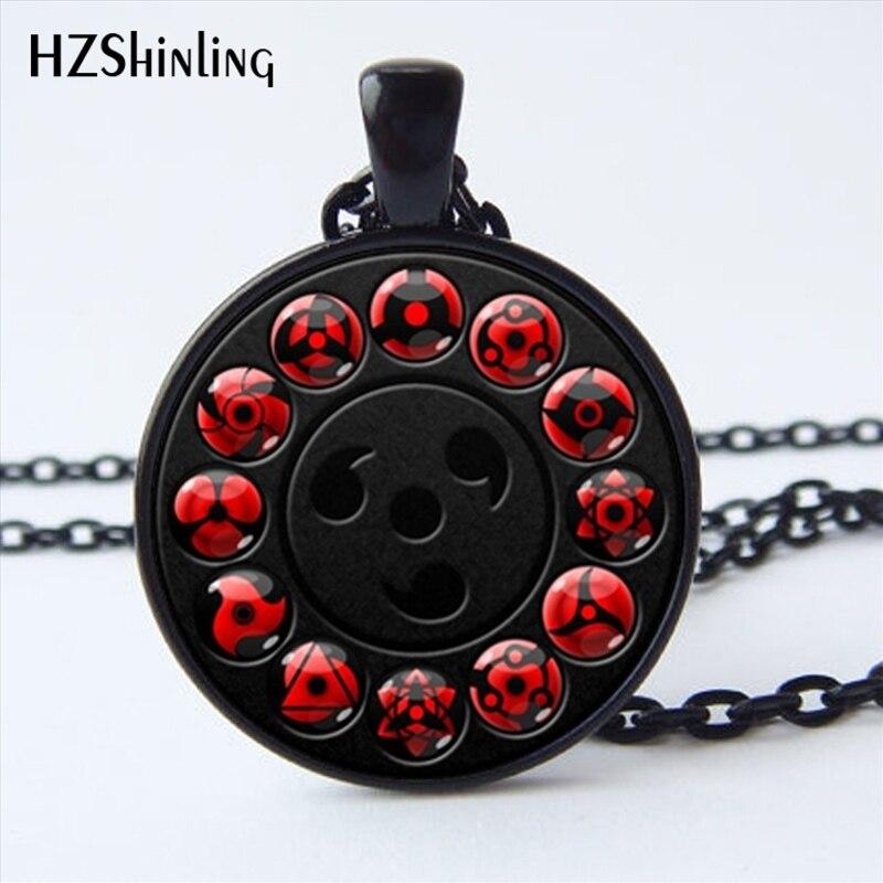 Ns 00782 New Glass Naruto Shippuden Pendant Necklace Round
