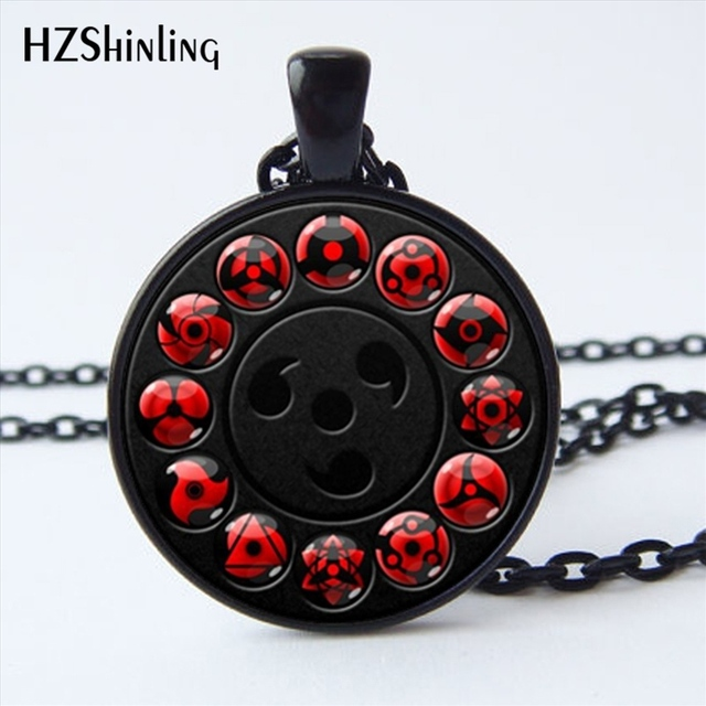 Naruto Shippuden Pendant Round Naruto Sharingan Eye Chain Necklace