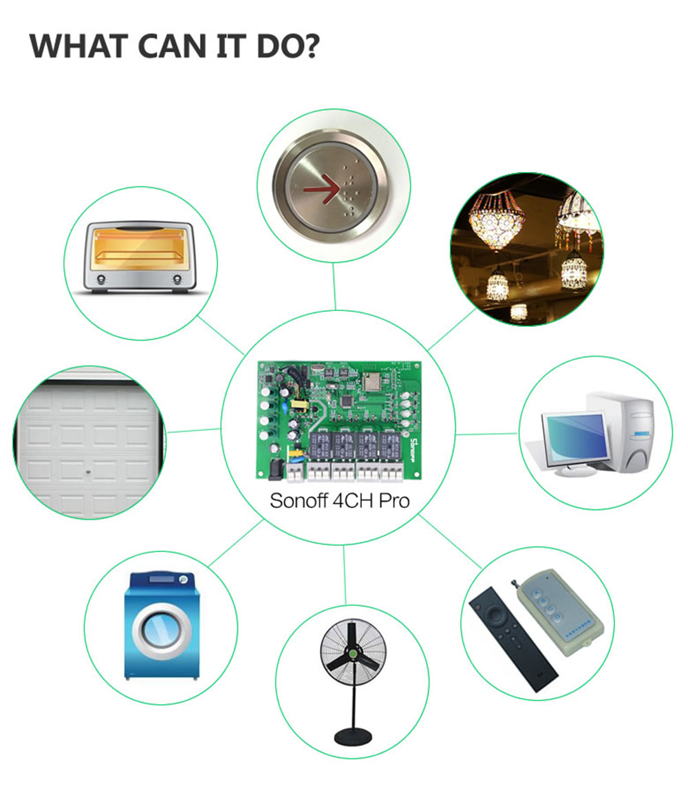 Sonoff 4CH Pro, wifi switch light alexa, sonoff 4ch wifi