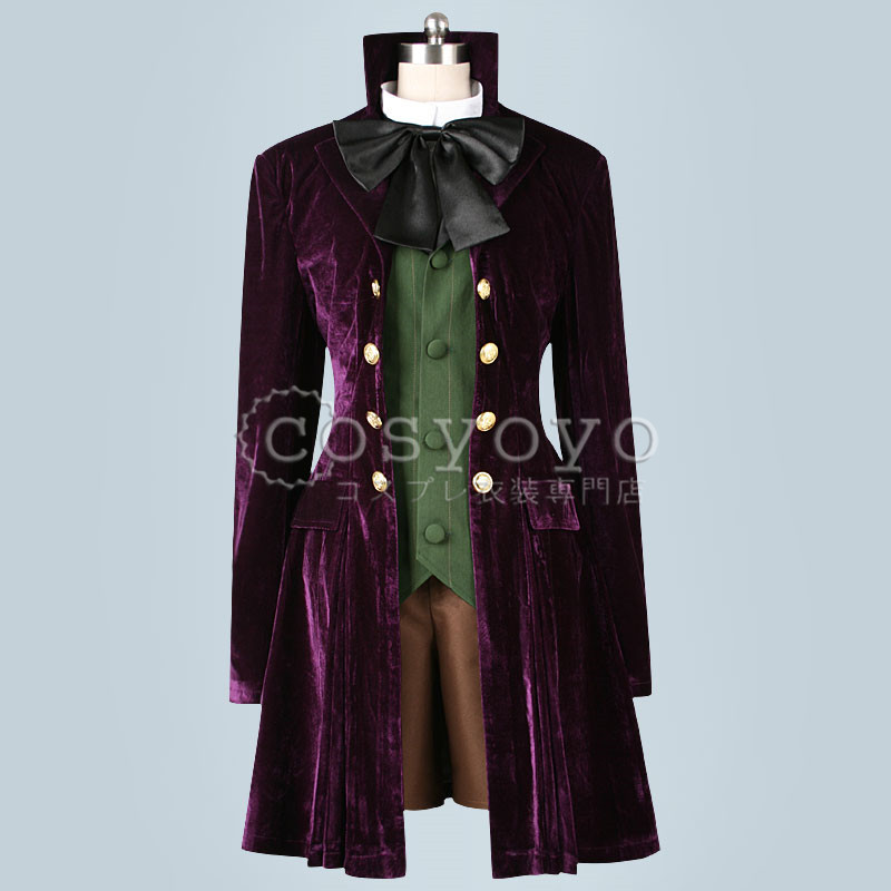 Black Butler Purple outfit Uniform cloak Alois Trancy Cosplay Costume Full Set