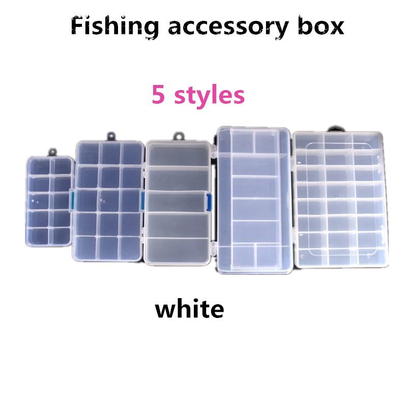 24-Compartment Fishing Tackle Box Container for Fishing Accessories Medium Size