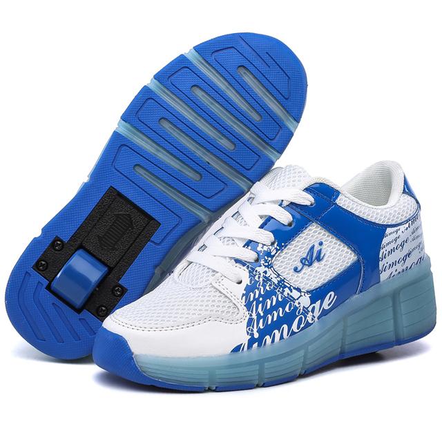 2016 crianças sapatos de LED / crianças voando sapatos meninas de de homens de Skate com rodas