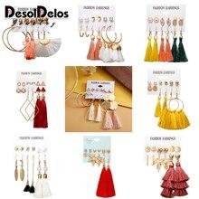 9 Bohemian Earring Long Tassel Drop Earrings Set For Women Girl 2019 Fashion Geometric Earring Cheap Brincos Female Jewelry цена