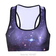 Women Sports Bras Padded Wireless Crop Top Fitness Running Gym Tank Top 3D Digital Print Shakeproof Breathable Bra Top Underwear