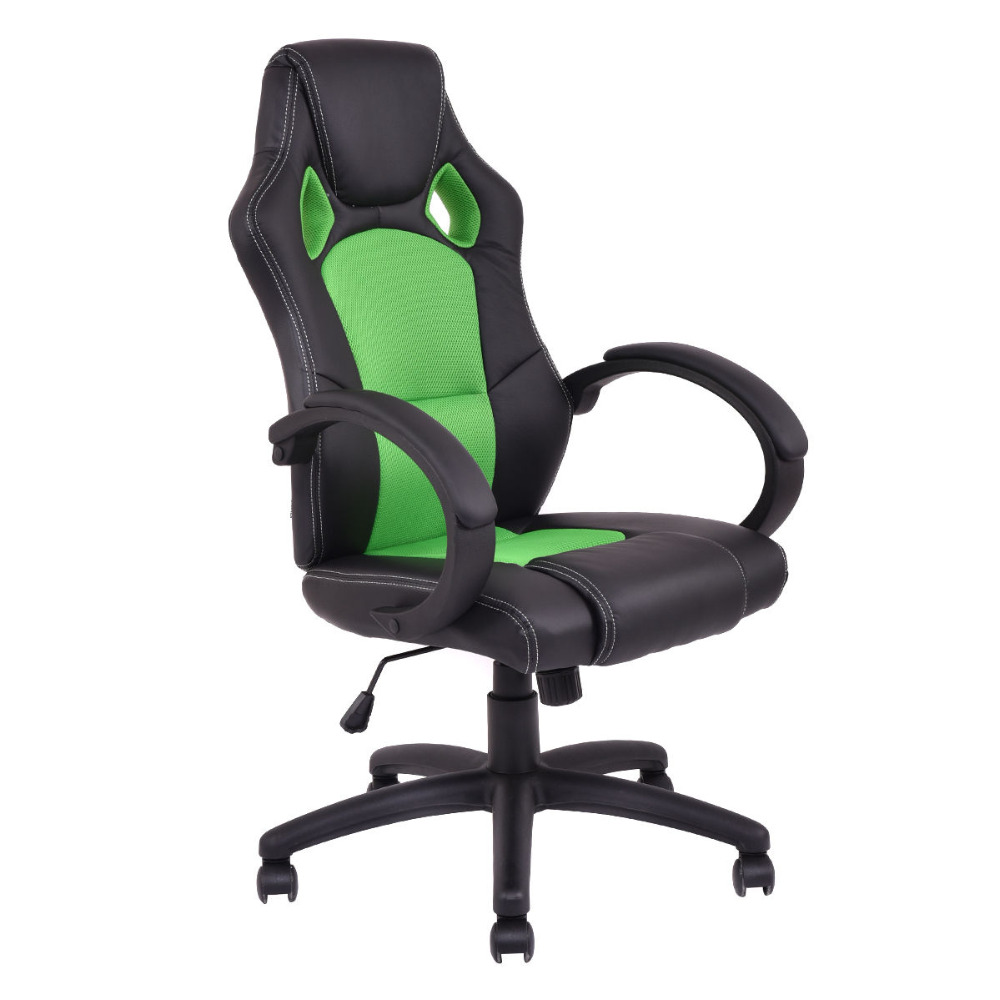 шатура стол для компьютера arena gaming desk pure black High Back Racing Chair Bucket Seat Office Desk Gaming Chair Swivel Executive HW54590GN