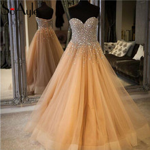 SoAyle A-Line 2018 Prom Dresses Champagne Evening Dresses