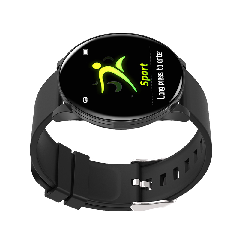 W8 Round Screen Smart Watch Wristbands Bluetooth Fitness Wrist Strap Passometer Sport 1.3inch Monitor for XiaoMi iPhone Samsung