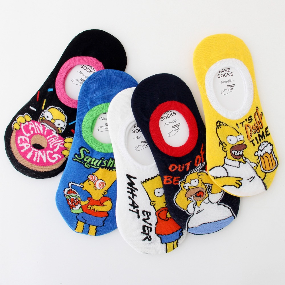 Korean Style Cute  Socks Fashion Funny Novelty Women Boat Socks Spring And Summer Cartoon Calsetines De Mujer