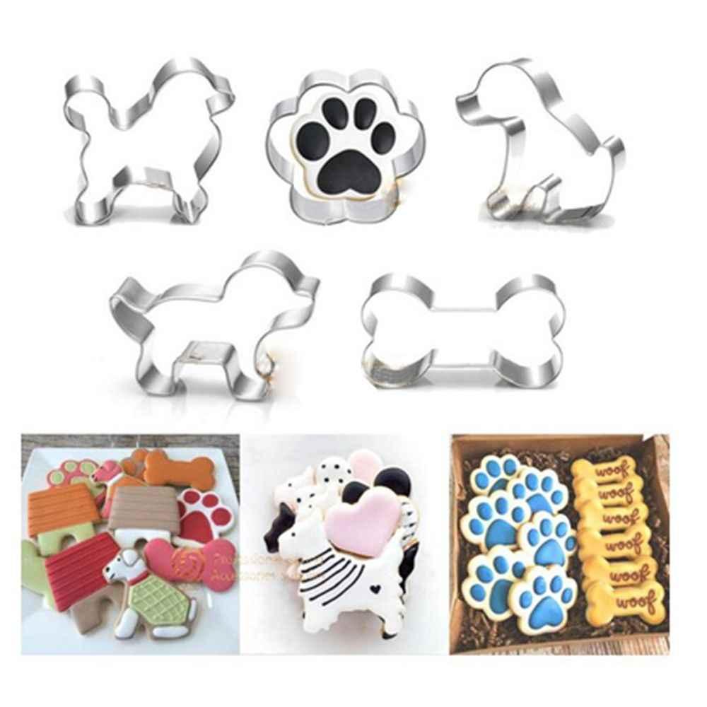 1 قطعة الكلب حيوان أليف العظام باو على شكل فندان كوكي البسكويت القاطع ختم الفولاذ المقاوم للصدأ الخبز قالب فندان أدوات تزيين الكعكة