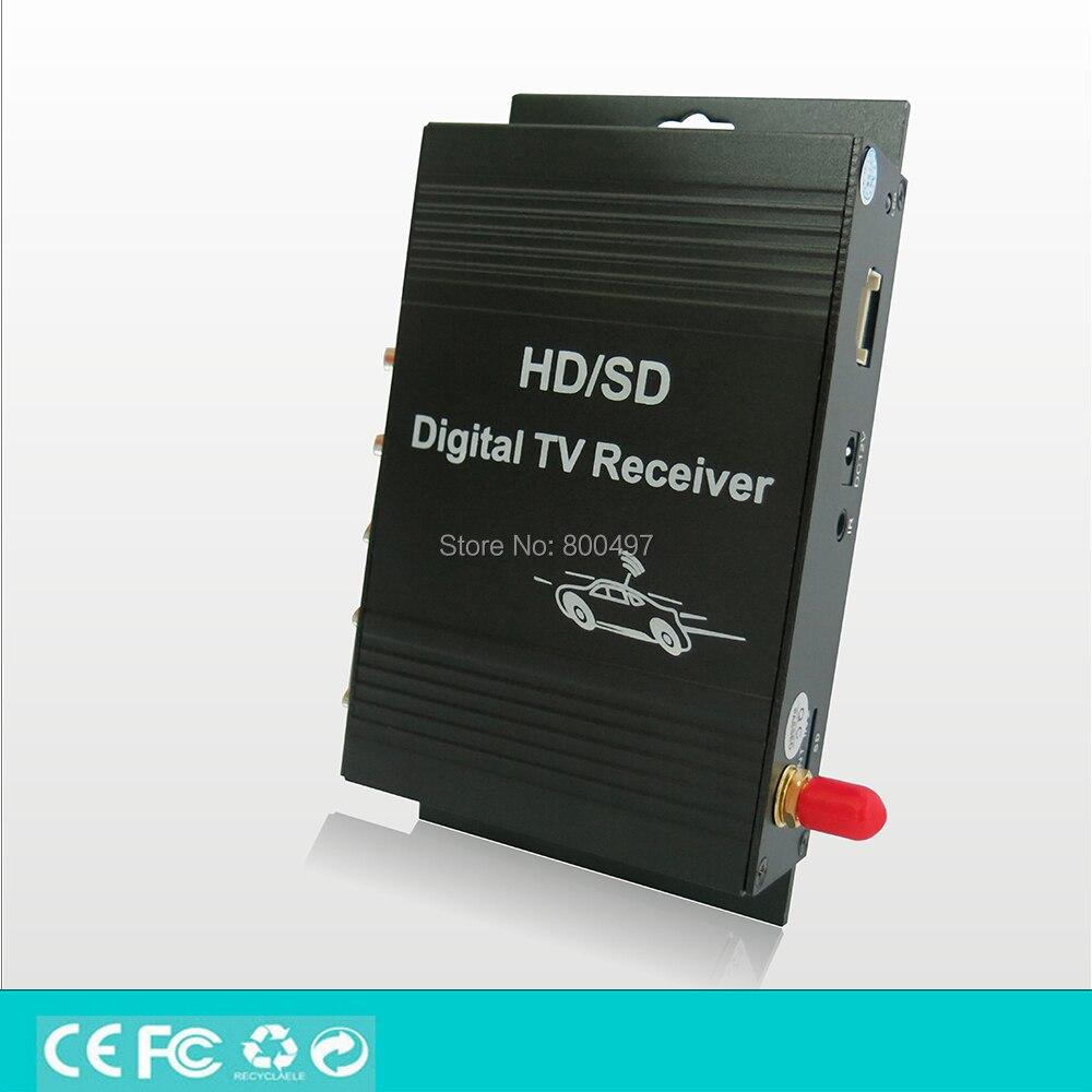 Car ISDB T One Seg HD 1080P HDMI Digital CVBS Mobile Digital TV Receiver Mobile MPEG4
