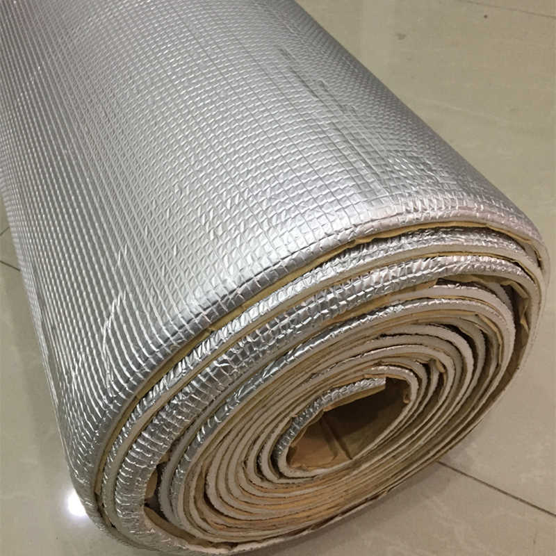 JGAUT 50cm*200cm ROll car Aluminum Foil Sound Noise Deadening Sheet Doors Roof Cockpit Engine Hood Truck HEAT Insulation