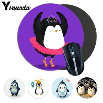 Yinuoda Your Own Mats cute penguin Natural Rubber Game mousepad Desk Mat Top Detailed Popular gaming mouse pad as Christmas gift