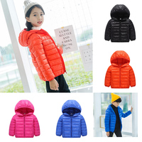 New Casual Down Jackets For Girls Boys Outerwear Coats Kids Winter Hooded Down Children's Clothing Criancas Jaqueta