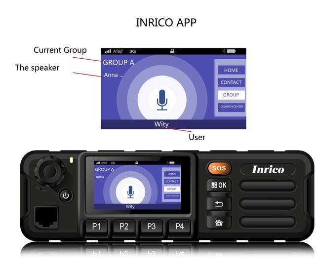 Newest 4G LTE mobile car radio TM 7plus mobile car radio transceiver Android7.0 GPS WIFI walkie talkie