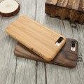 Cajas del teléfono de madera para el iphone 7 kisscase case cubierta del teléfono para el iphone 7 7 plus case fundas de madera cubierta de la cáscara trasera dura capa coque