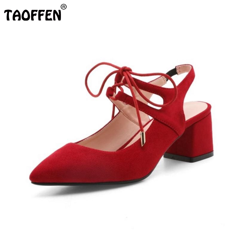 Women High Heels Shoes Women Cross Strap Thick Heels Pumps Princess Pointed Toe Shoes Ladies Sweet Fashion Footwear Size 34-43 meotina high heels shoes women pumps party shoes fashion thick high heels pointed toe flock ladies shoes gray plus size 10 40 43