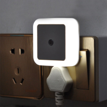 Light Sensor AUTO Control Mini Night Light EU US Plug Novelty Square Baby kids Bedroom bedside lamp Romantic Colorful Lighting novelty light sensor led night light baby bedside lamp night lamp luminarias sleep light for kids bedroom stair eu us plug