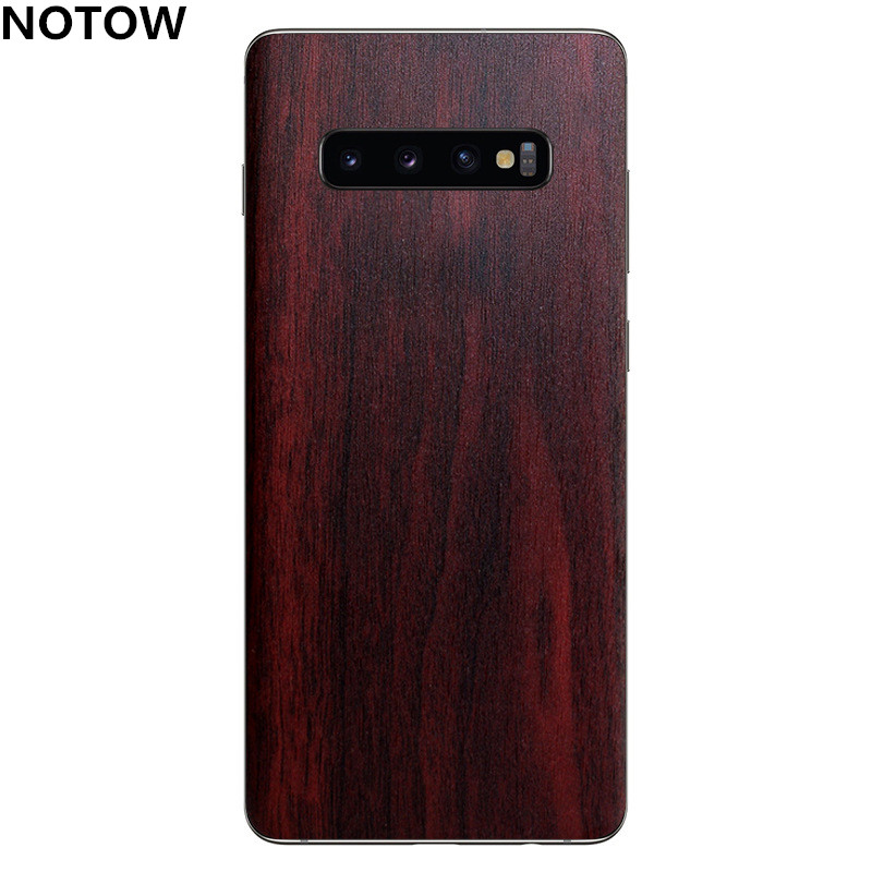 NOTOW Luxury Wood Skin Phone Sticker protective film Back Body Decal Wrap Protective for <font><b>Samsung</b></font> S10/<font><b>10E</b></font>/S10plus /Note9/Note 8 image