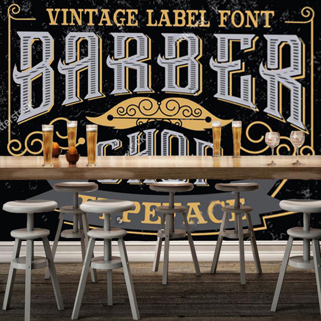 online shop 3d modern wallpaper barber theme elements for the wall
