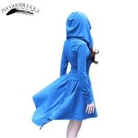 Hooded Dresses Autumn Fashion Women Dress Clothing Slim Waist Irregular Casual Dresses Long Sleeve New Arrival