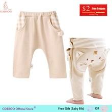 COBROO/штаны для малышей Детская одежда унисекс штаны с котенком длинные Хлопковые Штаны для девочек От 0 до 3 лет NY520020