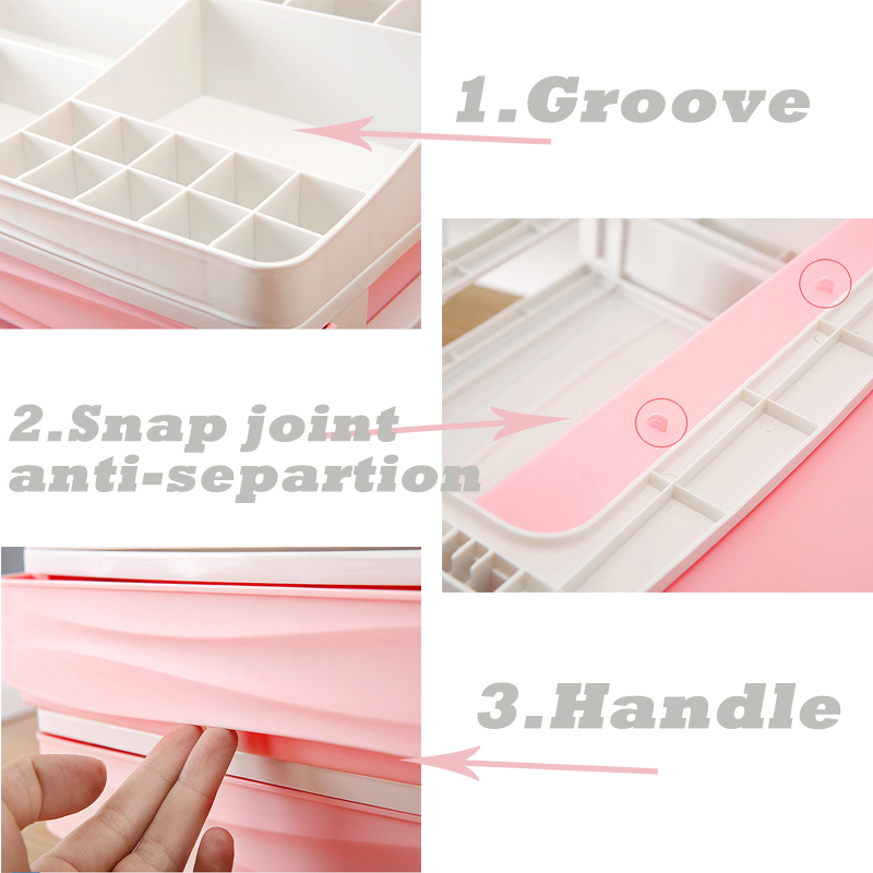 HTB1yTPzbcTxK1Rjy0Fgq6yovpXaQ - JULY'S SONG Plastic Cosmetic Drawer Makeup Organizer Makeup Storage Box