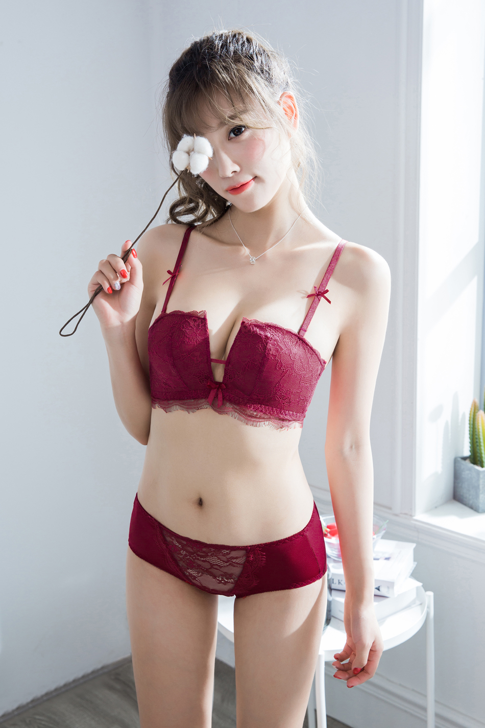 c223c490e91 Japanese embroidery intimates push up bra set sexy transparent bra lace  women underwear lingerie bra   brief sets PINKUSD 15.89 set