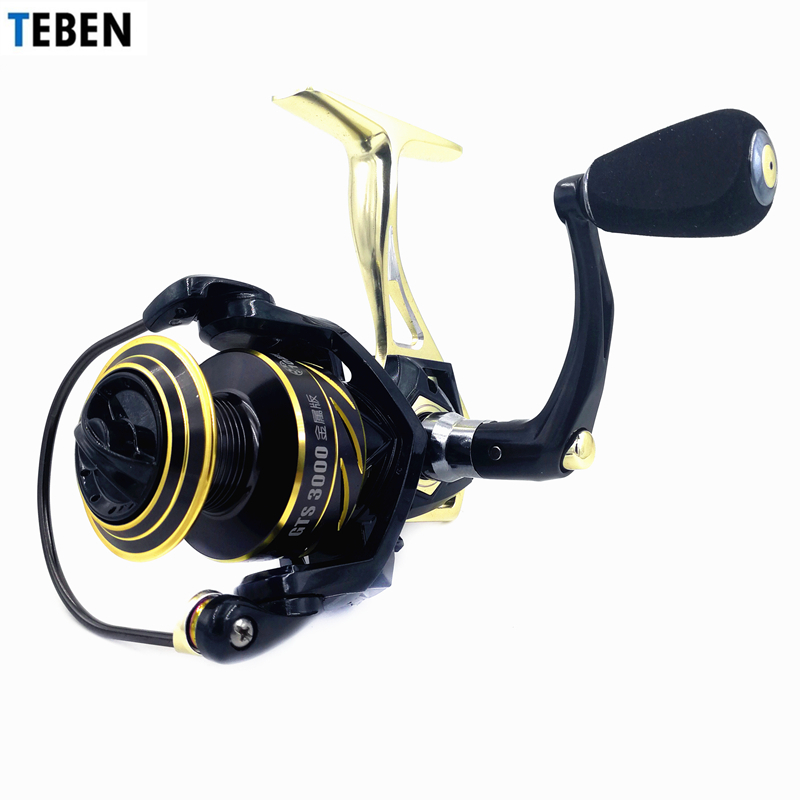 цена Teben Ratio 5.2:1 Max Drag 20kg Saltwater Fishing Reel Anti Corrosion 10BB Left Right Hand Saltwater Sea Bass Fishing Reel