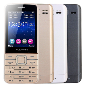 "Image 2 - MAFAM สี่ Quad SIM 4 สแตนด์บาย Slim อาวุโสโทรศัพท์มือถือ 2.8 ""HD หน้าจอบลูทูธไฟฉาย Magic Voice GPRS SOS V9500"