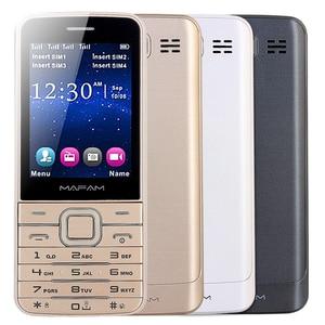 "Image 2 - Mafam 4 쿼드 sim 4 4 대기 슬림 수석 휴대 전화 2.8 ""hd 화면 블루투스 다이얼 손전등 매직 음성 gprs sos v9500"