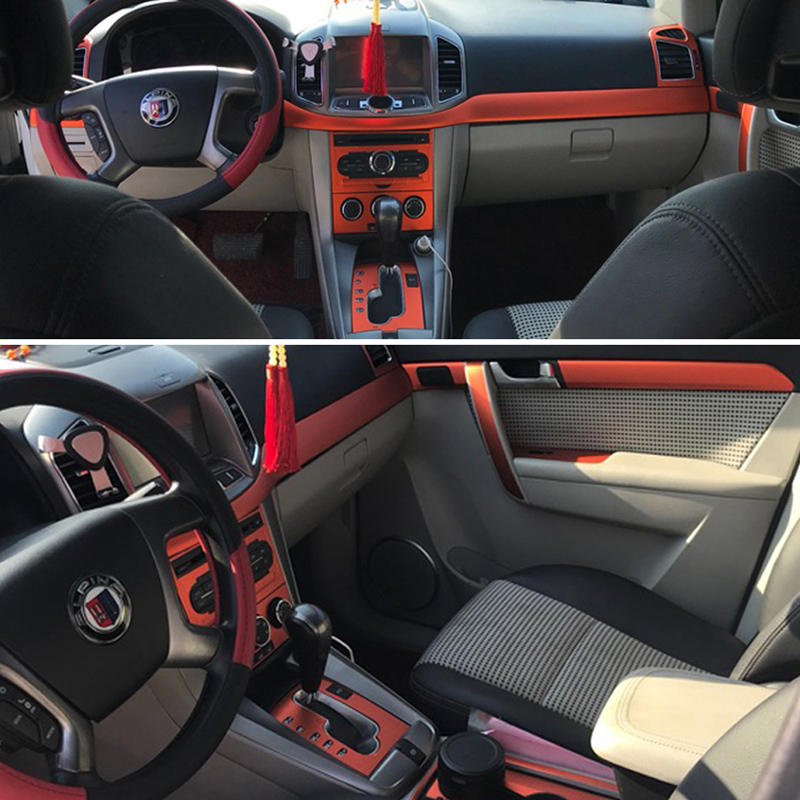 For Chevrolet CAPTIVA Interior Central Control Panel Door Handle 3D/5D Carbon Fiber Stickers Decals Car Styling Accessorie