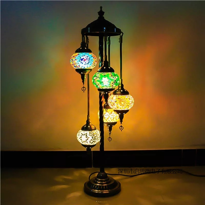 Floor Lamp Living Room Gaming Pc 2017 Turkish Mosaic E14 Led Light Mediterranean Art Deco ...