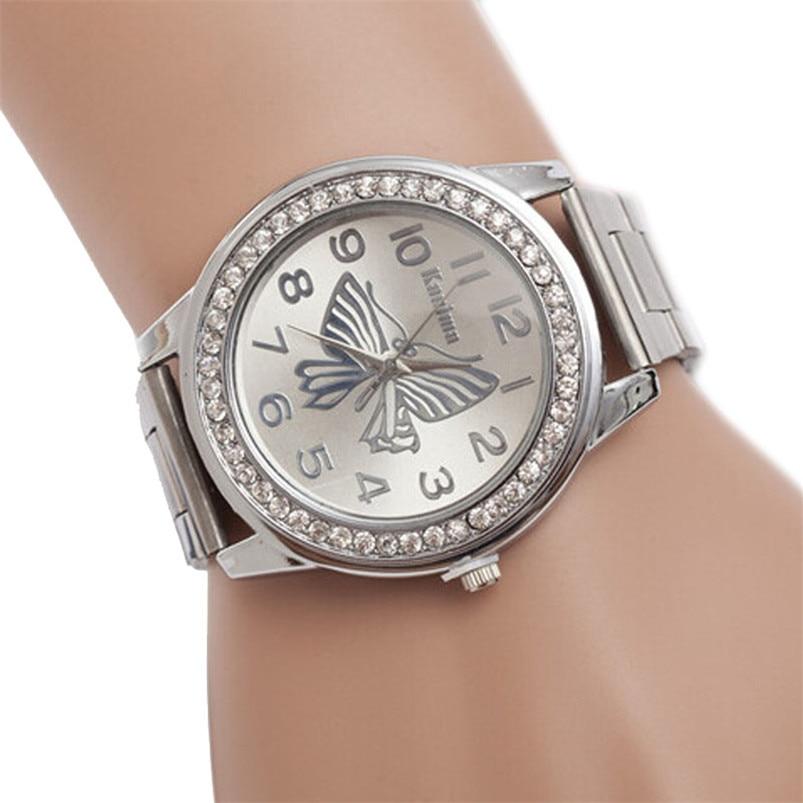 Fashion Business Wrist Watch Men Watch 2017 Butterfly Pattern Sport Quartz Wrist Hour Bracelet Big Dial Watches Wrist Watch