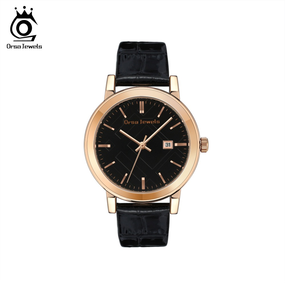 ORSA JEWELS Women Watches Luxury Leather Casual Fashion 2019 Quartz Wristwatches Women Ladies Watch Relogios Feminino OW10