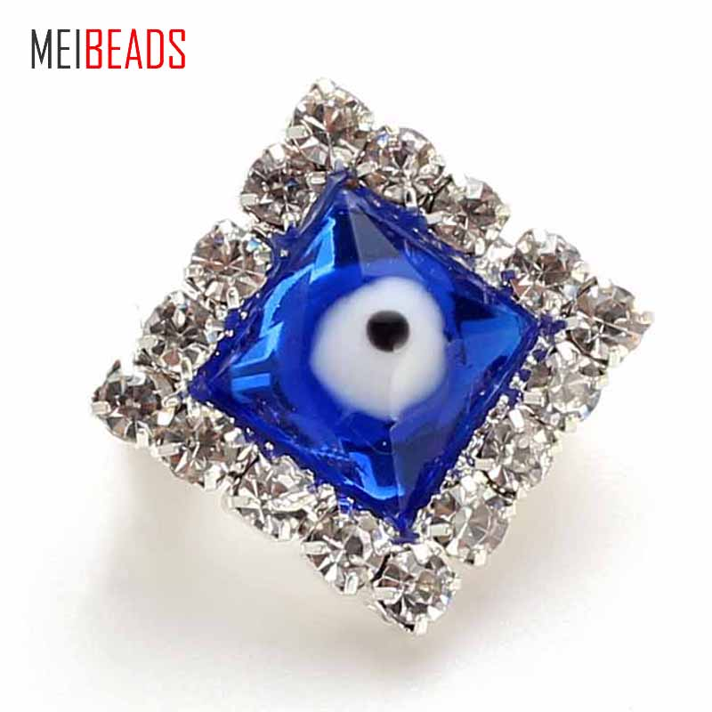 Meibeads Fashion Silver Alloy Charm Crystal Beads Blue Eye Pendant For Clothing Decoration Women Gift Jewelry Accessories Ey4751 Numerous In Variety Jewelry & Accessories Jewelry Sets & More