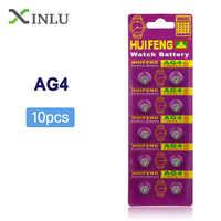 Venta al por mayor 10 unids/lote AG4 377A 377 LR66 celular batería de botón Ver Batería LR626 SR626SW SR66 AG4 AG 4 batería