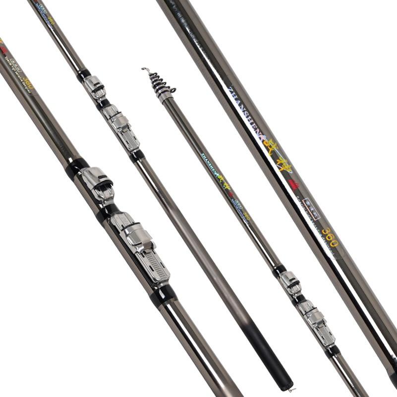 YUYU Fishing-Rod Spinning Ultra-Light Telescopic Rock Carbon