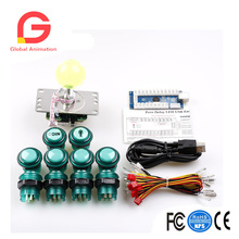 LED Arcade DIY Parts 1x Zero Delay USB Encoder + 8 Way Joystick 10x Illuminated Push Buttons For Mame Jamma Proj
