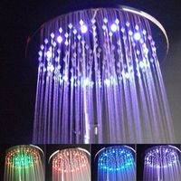 CY8030 B7 Supernova Sale 12 Inches Brass Square 7 Colors Flashing LED Shower Head Rainfull Top Shower Heads