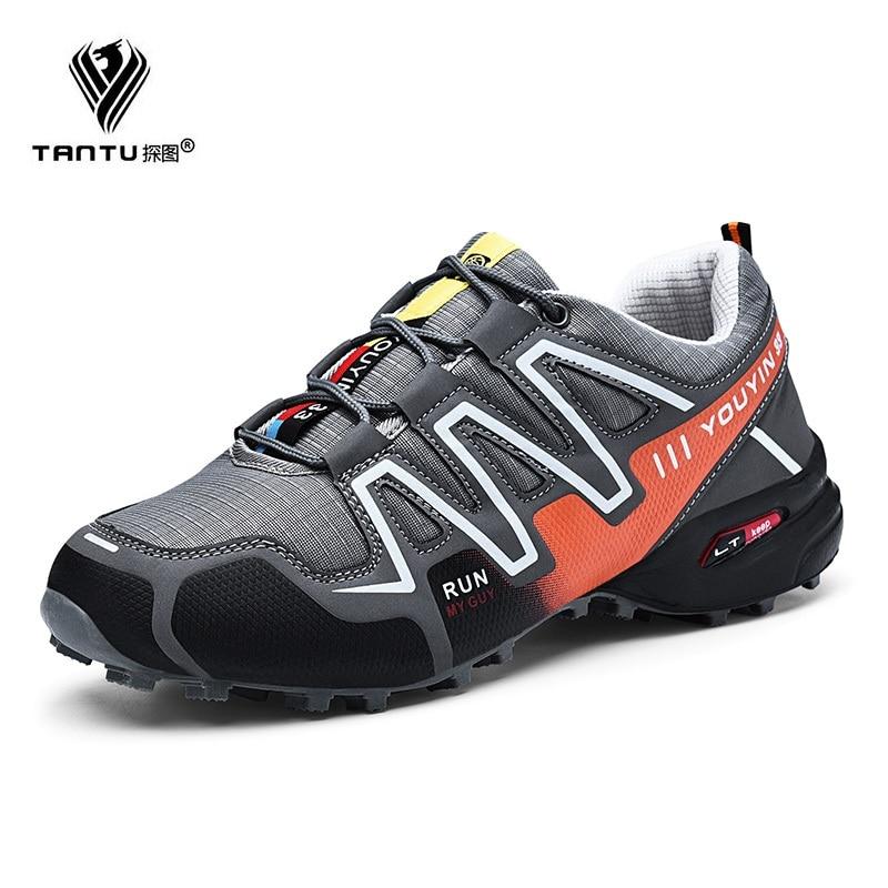 TANTU VENTE CHAUDE Hommes Chaussures Hommes Casual Chaussures Printemps Automne Lumière Weige Respirant Mode Chaussures Hommes Plus Taille 39- 48