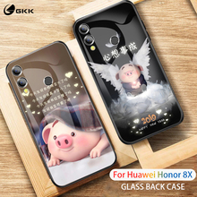 GKK Glass Case for Huawei Honor 8x Back Tempered Soft Edge Silicone Hard Luxury Phone Cover Coque Funda