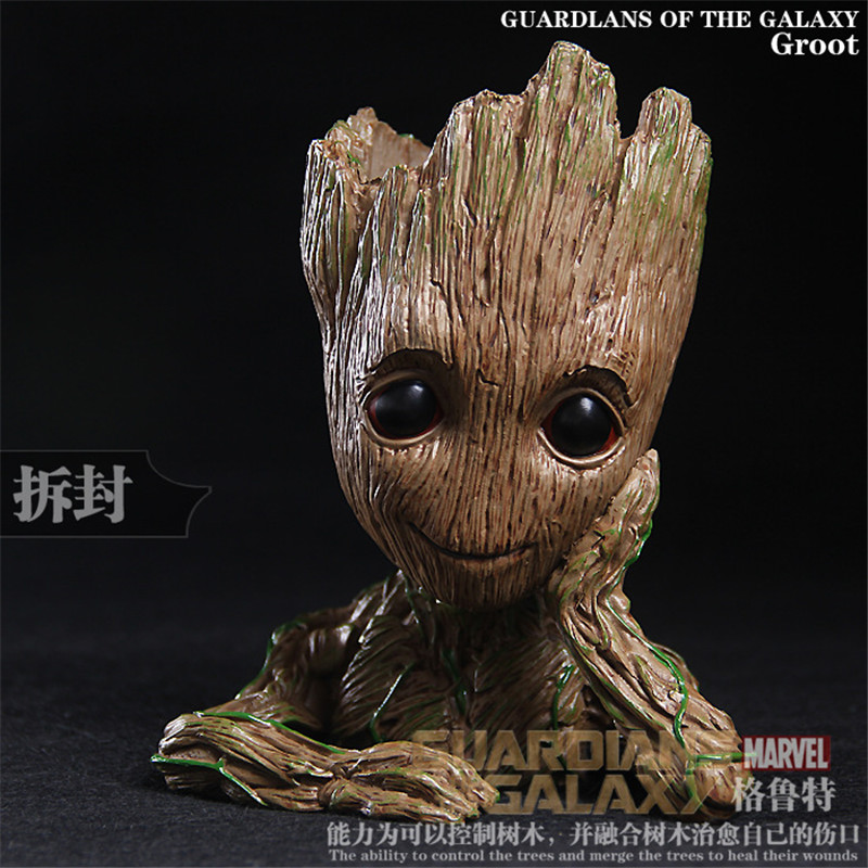 все цены на  2 Style Marvel Movie Guardians of the Galaxy Film Cute Flowerpot Groot Action Figures The Treant Collection Model Toy  онлайн