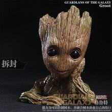 2 Estilo Marvel Movie Guardianes de la Galaxia Película Linda Maceta Groot Figuras de Acción La Treant Colección Modelo de Juguete