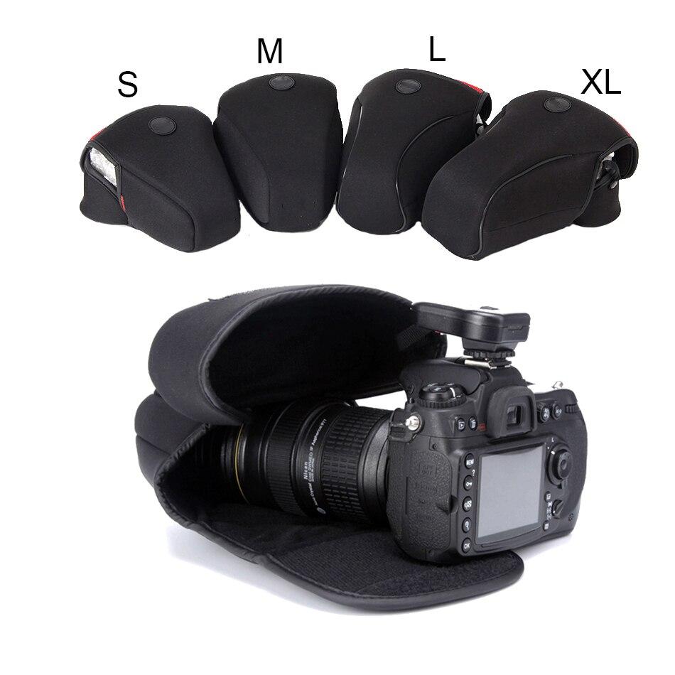 Morbido Neoprene Camera Case Borsa Per Canon EOS 1100D 1200D 1300D 750D 80D 800D 760D 700D 550D 5D 5DIV 5 DIII 5DII 50D 60D 7D 70D 77D