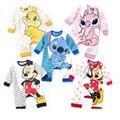 Marca Nuevo Bebé de Los Mamelucos Largos del Personaje de Mickey Minnie bebé ropa roupas de bebe mameluco del bebé