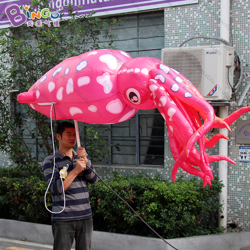 Dutiful Personalized 2.4 Meters Big Red Inflatable Air Squid / Squid Walking Costume Inflatables / Walking Inflatable Costume Toys