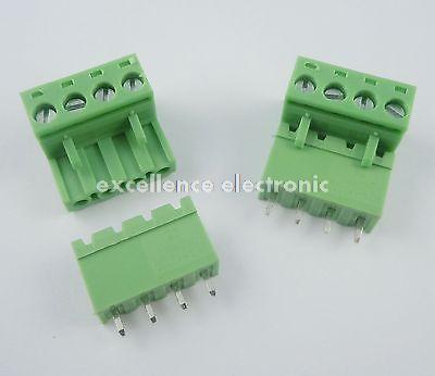 20 Pcs 5.08mm Pitch 4 pin 4 way Screw Pluggable Terminal Block Plug Connector 2EDG L 4 pin screw terminal block connector w cover black yellow 12pcs